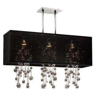 Everly Quinn Salerna Trimmed 3-Light Kitchen Island Pendant
