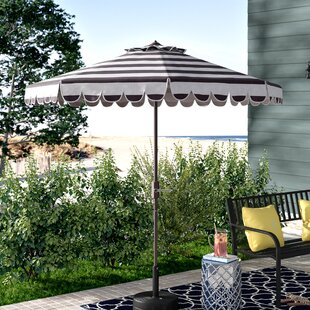 Lambeth Contemporary 8.5' Drape Umbrella by Beachcrest Home 2019 Sale