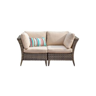 Southborough Outdoor 2 Piece Rattan Sectional Seating Group With Cushions by Highland Dunes New Design