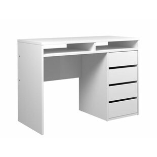 white gloss desk with drawers wayfair co uk rh wayfair co uk white desk drawers ikea white desk drawers target