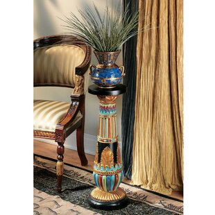 Check Prices Regal Egyptian Luxor Pedestal Plant Stand ByDesign Toscano