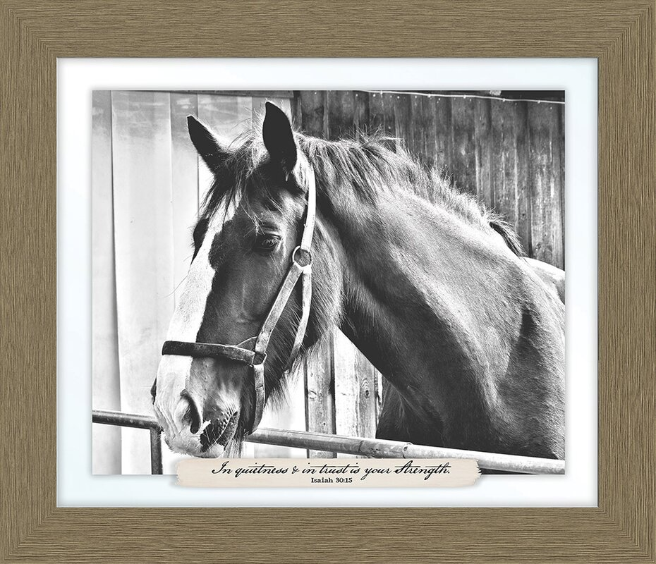 In Quietness And Trust Horse Farm\' Framed Photographic Print ...