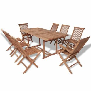 Aiden 9 Piece Dining Set by Breakwater Bay