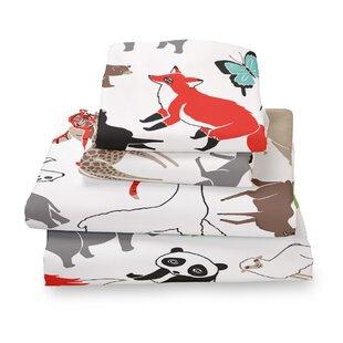 Where the Polka Dots Roam Animal Extra Deep Pocket Sheet Set