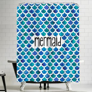 Elena Oneill Mermaid in Blue Single Shower Curtain
