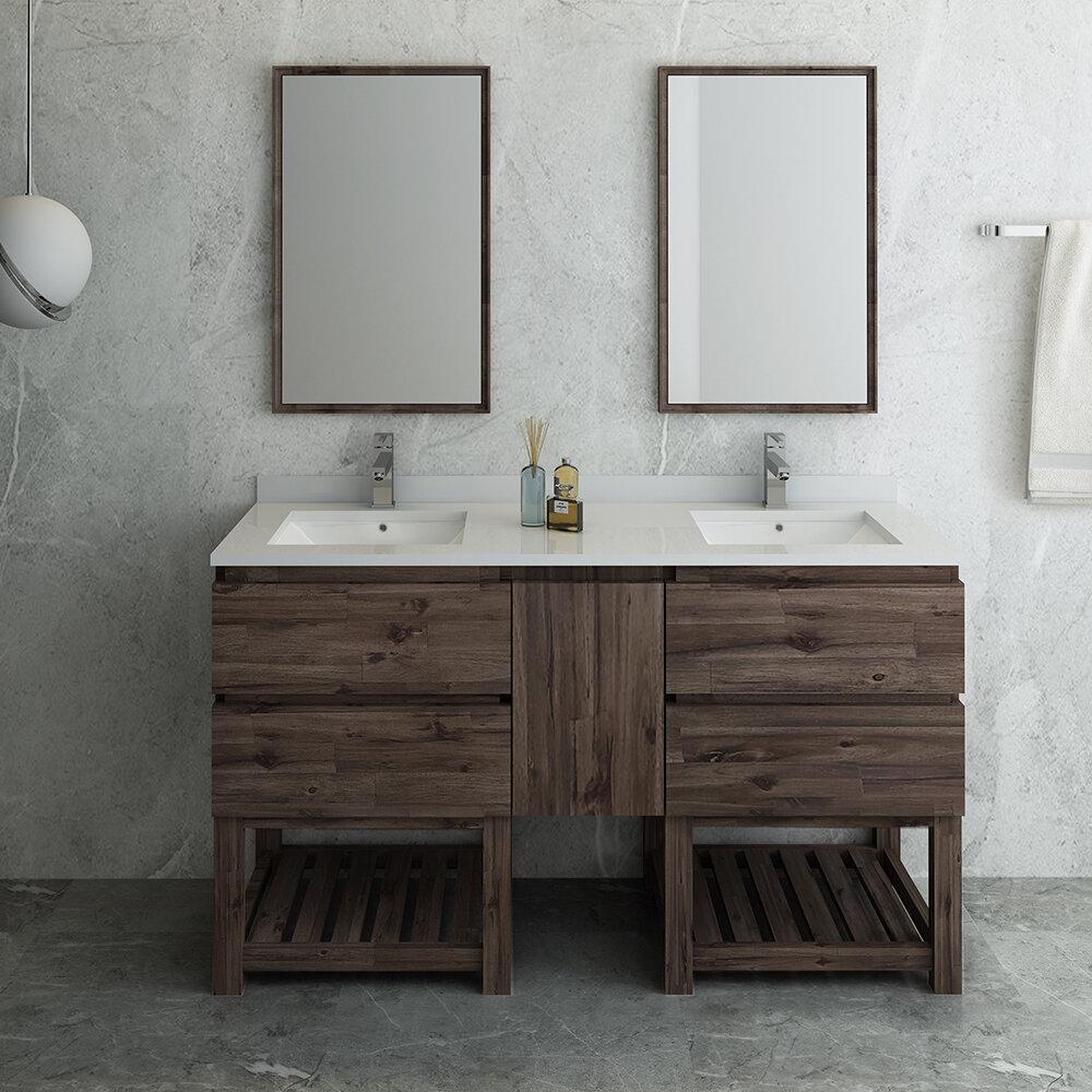 Fresca Formosa Open Bottom 60 Double Bathroom Vanity Set With Mirror Wayfair