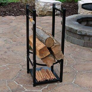Genial Fireside Log Rack With Tool Holder