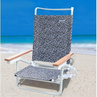 SittinPrettyLLC Luxe Leopard Reclining Beach Chair