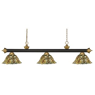 Billington 3-Light Pool Table Lights Pendant by Fleur De Lis Living
