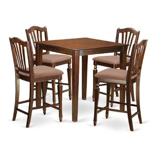 Given 5 Piece Counter Height Pub Table Set Charlton Home