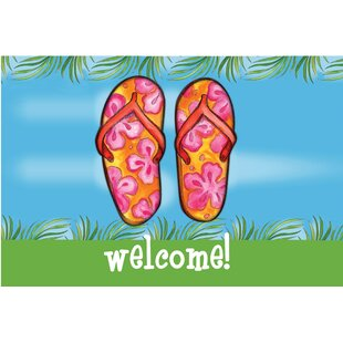 4621ddfbc Welcome Flip Flops Door Mat