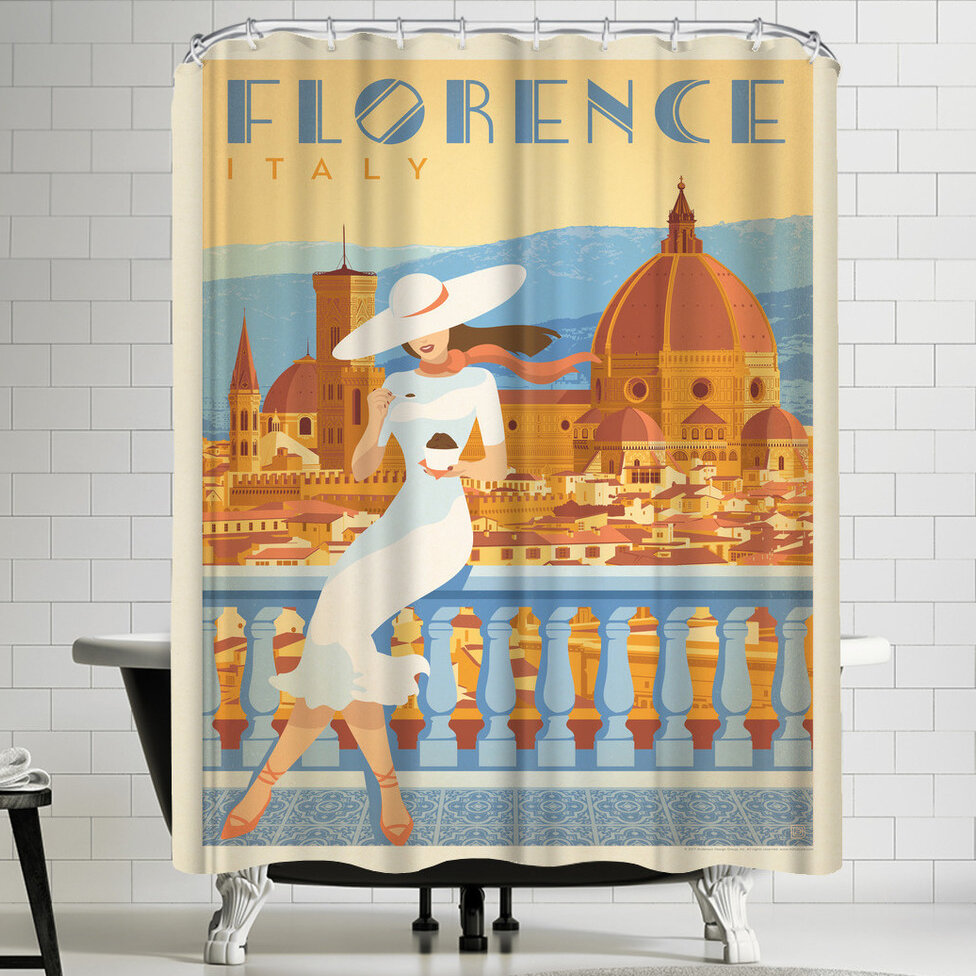 East Urban Home Anderson Design Group Italy Florence 2 Single Shower Curtain Wayfair