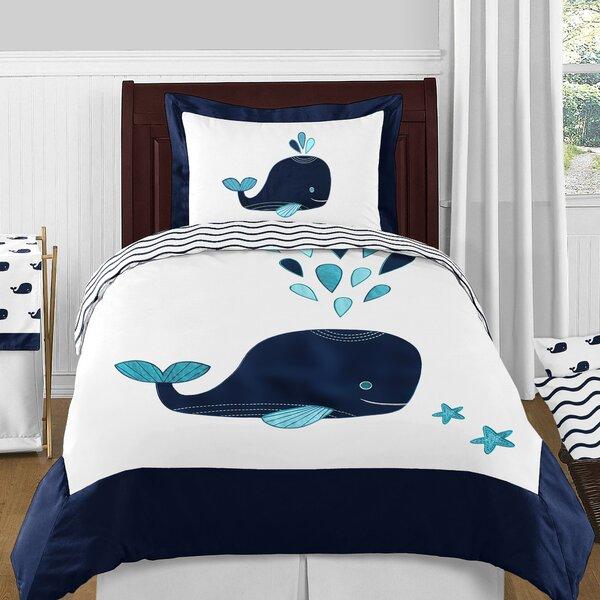 Sweet Jojo Designs Whale 4 Piece Comforter Set Wayfair