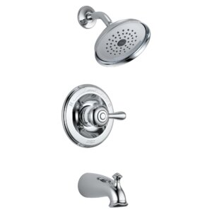 Leland Pressure Balance Monitor Tub and Shower Trim with Single Lever Handle