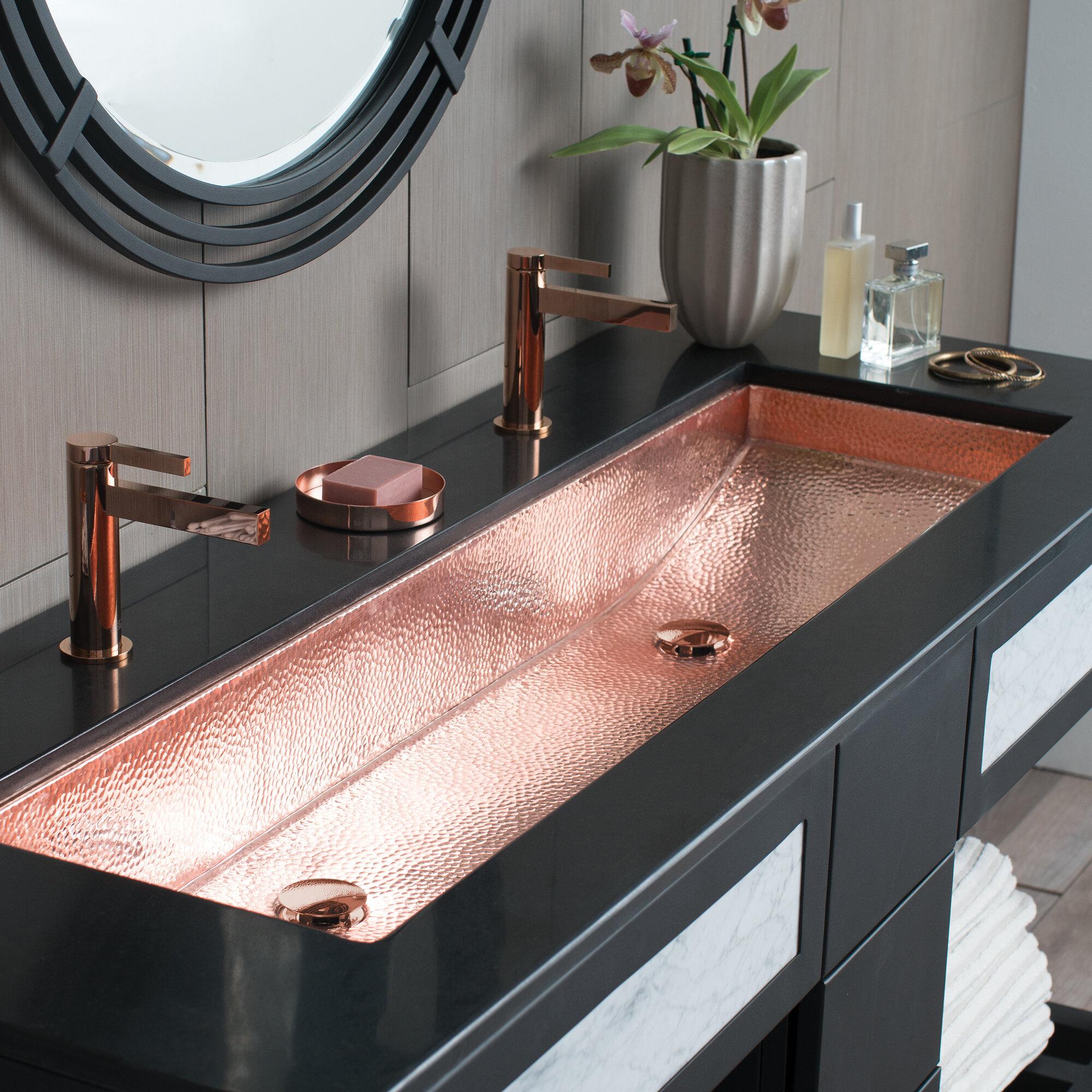 Native Trails Trough Metal Rectangular Trough Bathroom Sink Wayfair