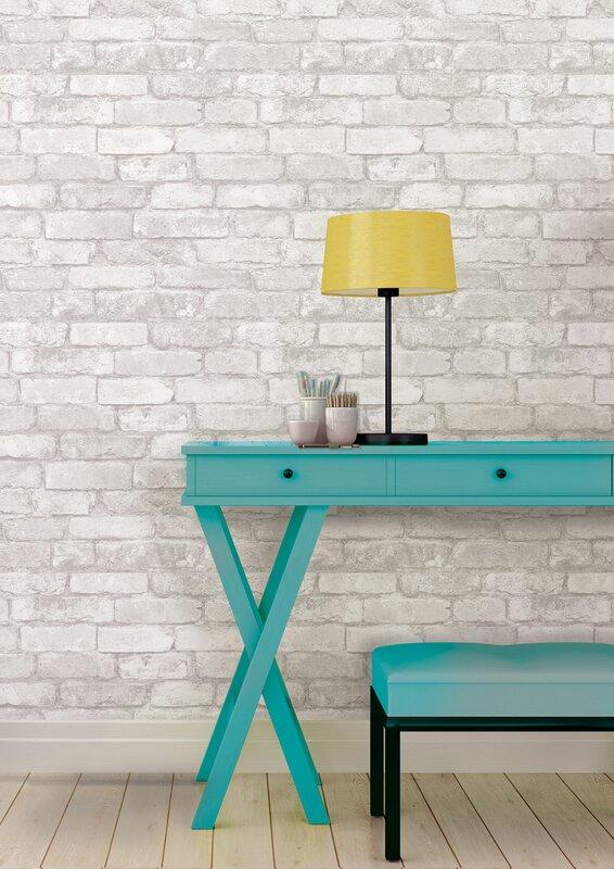 Removable Wallpaper brick removable wallpaper & reviews   joss & main