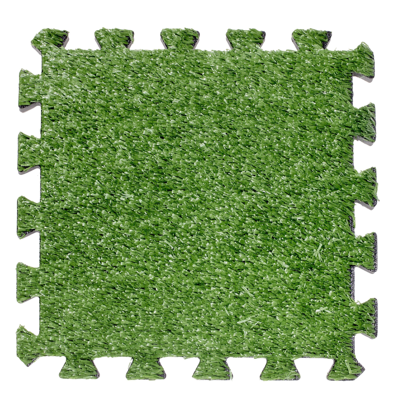Image of: Above Edge Interlocking Artificial Grass Deck 12 X 12 Carpet Tile In Green Wayfair