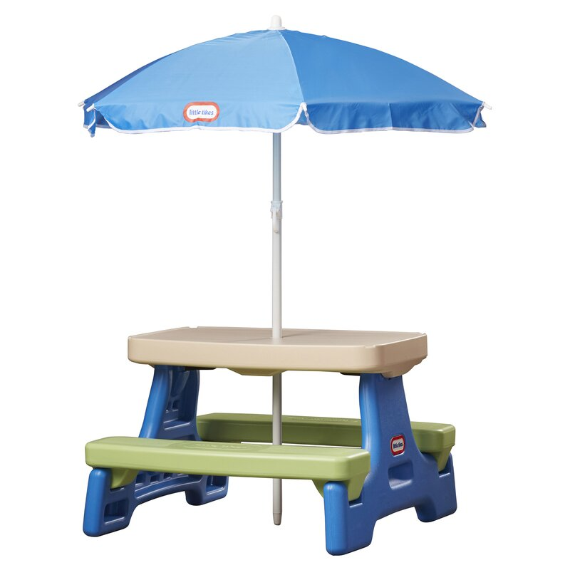 Little Tikes Easy Store Jr. Table with Umbrella & Reviews | Wayfair