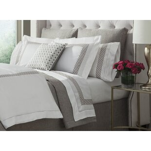 Shop Avalon Embroidered 300 Thread Count Cotton Flat Sheet By Home Treasures Linens