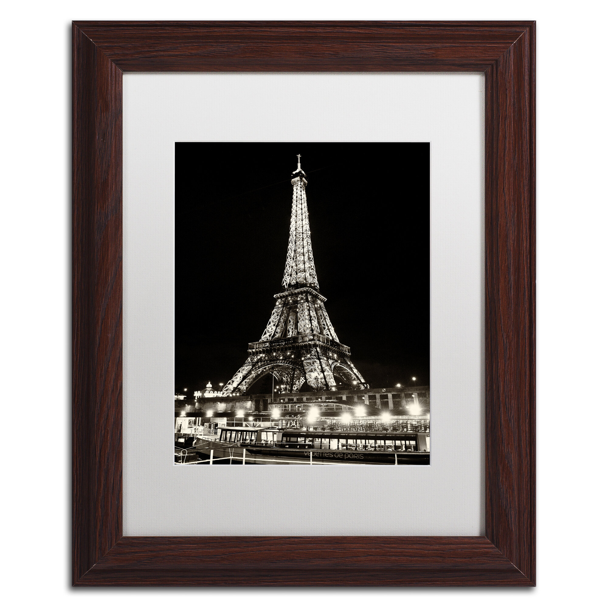 Trademark Art Eiffel Tower Paris Framed Photographic Print Wayfair