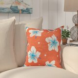 Hibiscus Blooms Outdoor Square Pillow Cover & Insert by Bay Isle Home