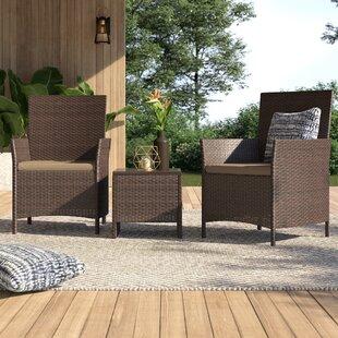 Dermody 3 Piece Bistro Set with Cushions ..