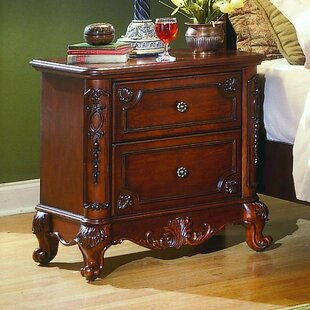 Best Reviews Ellsworth 2 Drawer Nightstand by Astoria Grand