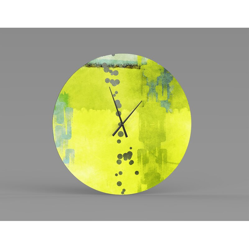 Orren Ellis Oversized Limewood Wall Clock Wayfair