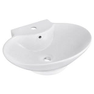 Best Ceramic Oval Vessel Bathroom Sink with Overflow By Royal Purple Bath Kitchen