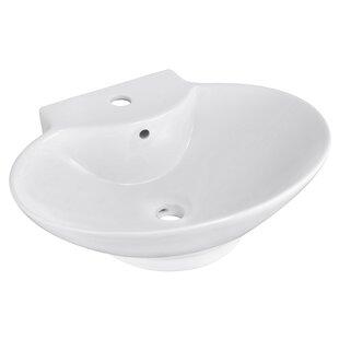Ceramic Oval Vessel Bathroom Sink with Overflow ByRoyal Purple Bath Kitchen