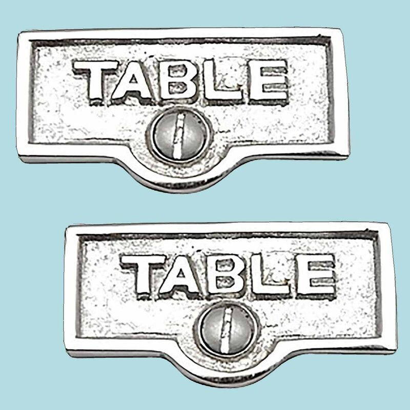 The Renovators Supply Inc Switch Tags Table Name Signs 1 Gang Rocker Wall Plate