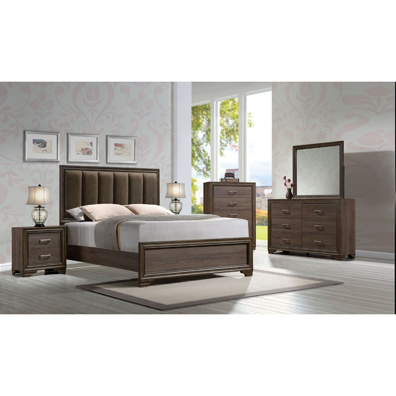 Contemporary Upholstered Bedroom Set Exterior