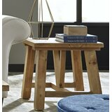 Oliphant Pine Wood End Table by Williston Forge