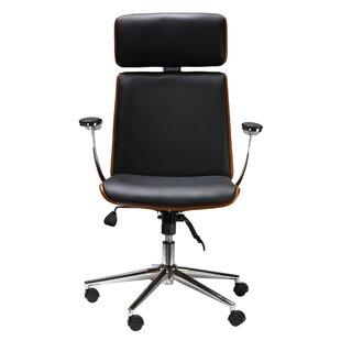 Redmayne Genuine Leather Task Chair by Brayden Studio