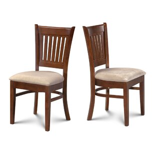 Corcoran Microfiber Upholstered Dining Chair (Set of 2) Alcott Hill