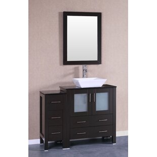 Bauhaus 42 Single Bathroom Vanity Set with Mirror by Bosconi