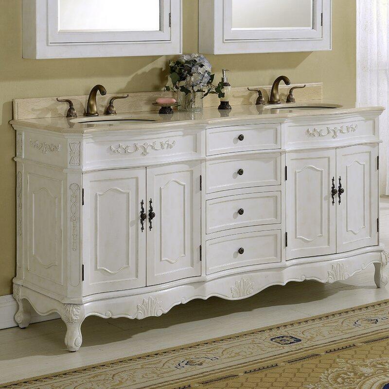 Astoria Grand Isadora 72 Double Bathroom Vanity Reviews Wayfair