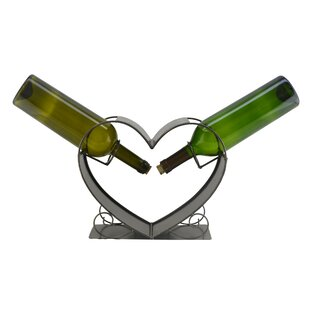 Heart 2 Bottle Tabletop Wine Rack by Wine..