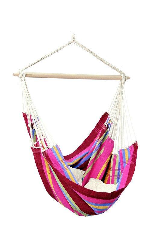 The Holiday Aisle  Molina Brazil Cotton Chair Hammock Color: Sorbet