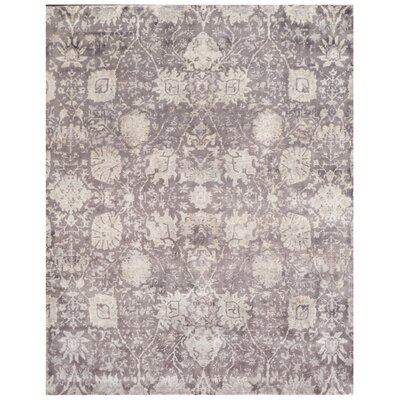Corvina Hand Knotted Brownlight Gray Area Rug Exquisite Rugs Rug Size Rectangle 8 X 10