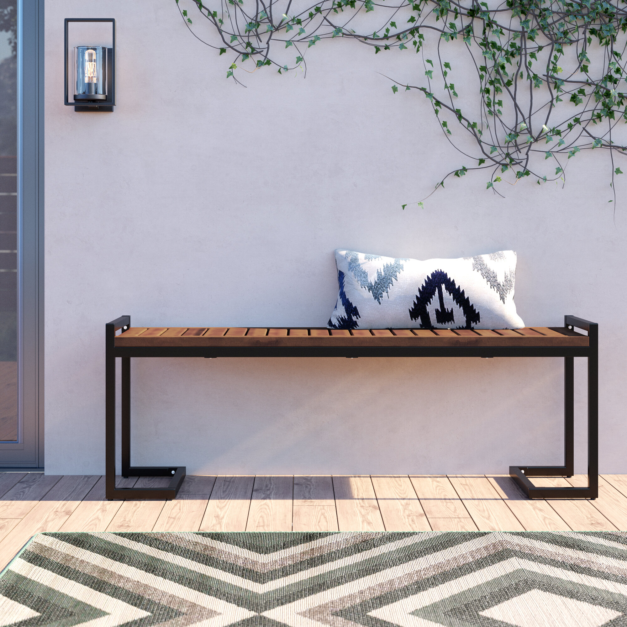 Metal Patio Benches Up To 65 Off Through 02 16 Wayfair