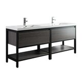 Sandra 83 Double Bathroom Vanity Set by Foundstone™