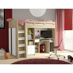 Holderness European Single Mid Sleeper Bed With Furniture Set By Harriet Bee