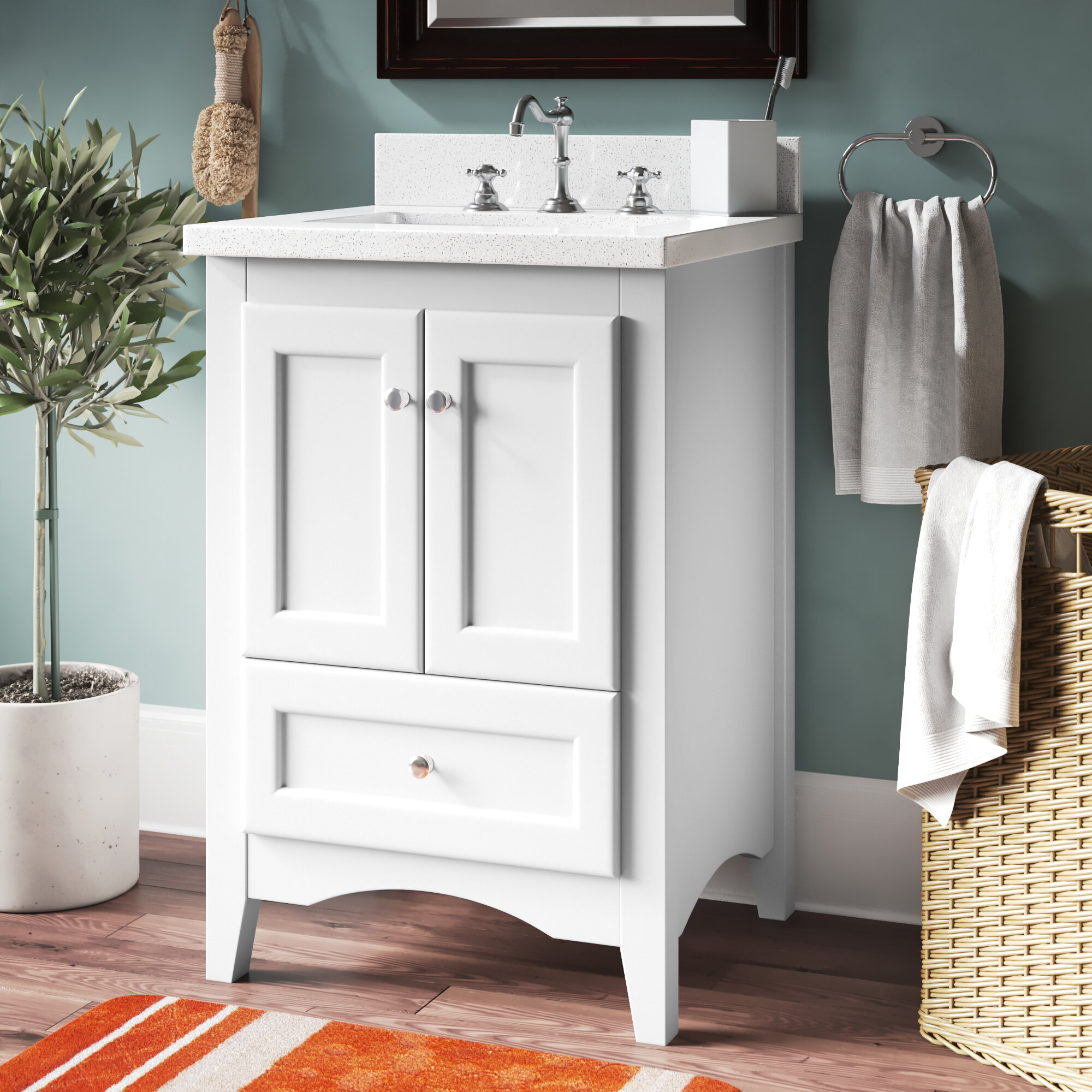 Birch Lane Prentice 24 Single Bathroom Vanity Set Reviews Wayfair