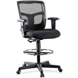 Lorell Ratchet Mid-Back Mesh Desk Chair