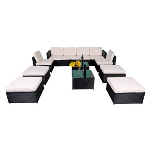 Pullman 12 Piece Sectional Seating Group With Cushions by Latitude Run Best #1