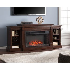 Raffin Reeder Widescreen and Bookcases in Espresso Electric Fireplace