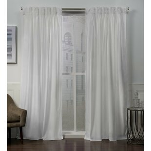 Donna Heavyweight Solid Color Room Darkening Pinch Pleat Curtain Panels  (Set Of 2)