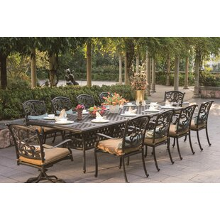 Calhoun 11 Piece Dining Set with Cushions