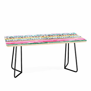 Hand Painted Garlands Coffee Table by East Urban Home Cool